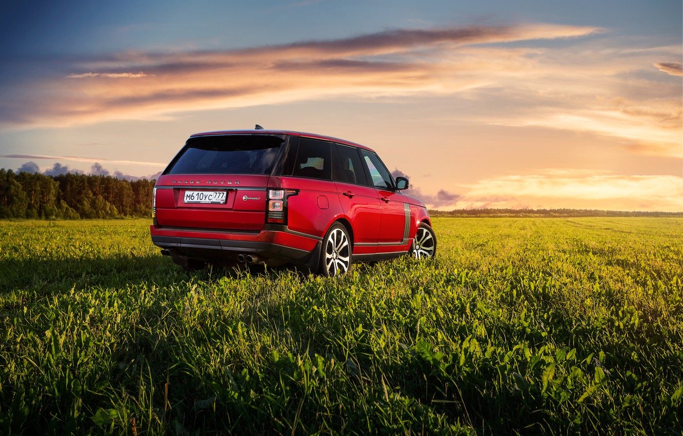 Photo wallpaper auto, red, Range Rover SV Autobiography Dynamic