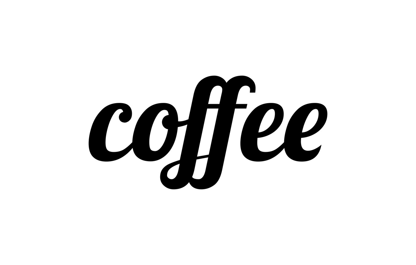 Photo wallpaper letters, coffee, the word, coffee