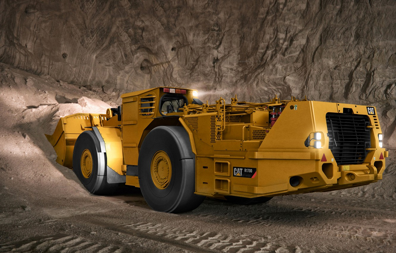 Photo wallpaper mine, the ground, Caterpillar, loader, R1700G