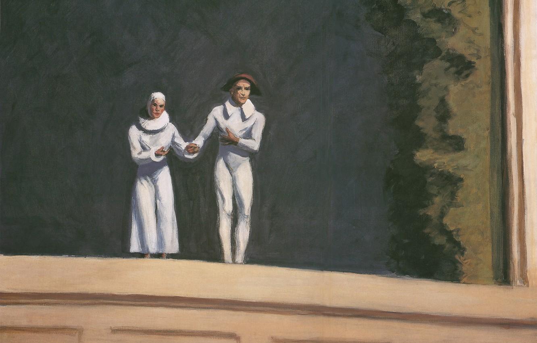 Photo wallpaper Edward Hopper, 1965, Two Comedians