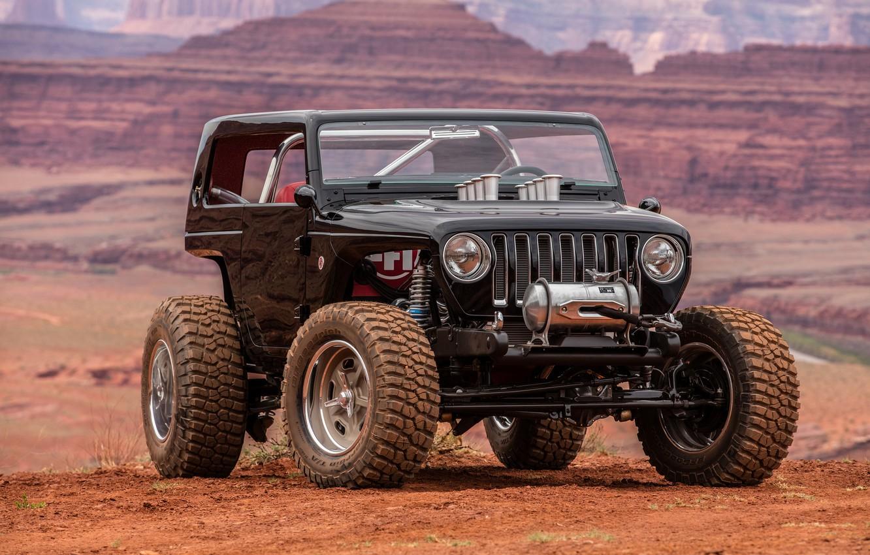 Photo wallpaper Jeep, Off Road, Quicksand