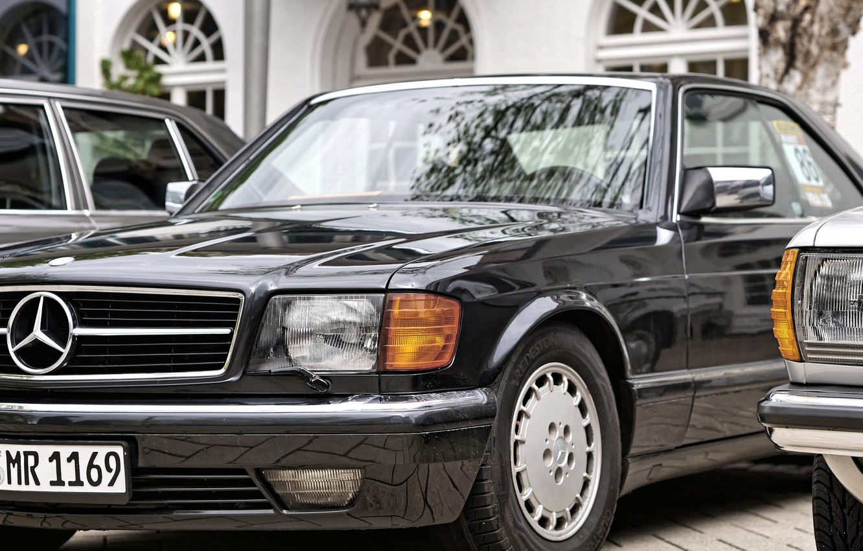 Photo wallpaper car, Mercedes, black