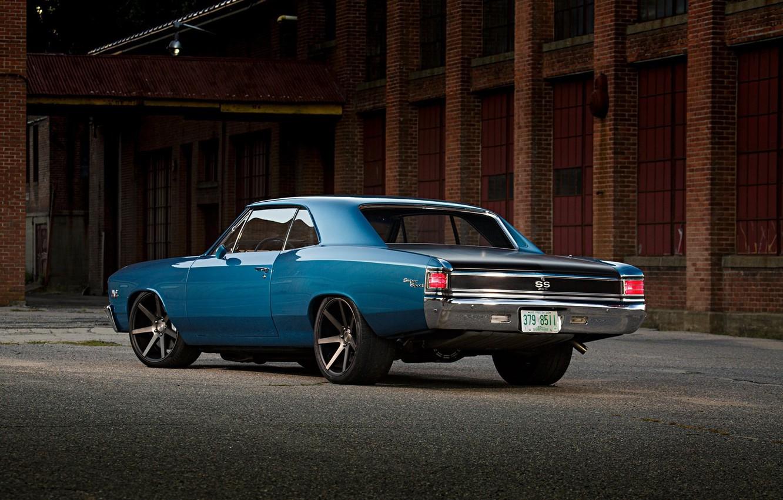 Photo wallpaper Chevrolet, Blue, Coupe, Chevelle, Muscle car, Big Block