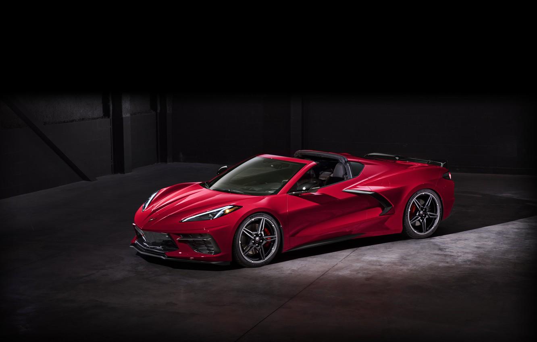 Photo wallpaper Corvette, Chevrolet, Wheel, Lights, Drives, Stingray, Sports car, 2020, Chevrolet Corvette ( C8 ) Stingray