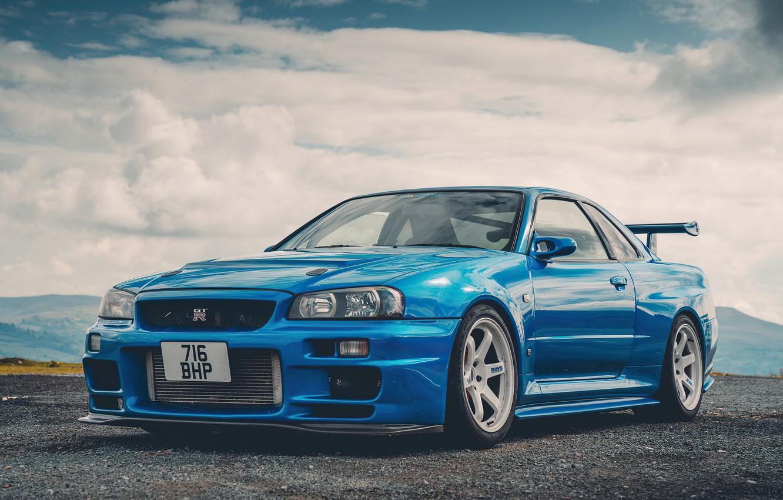 Wallpaper Skyline Blue Custom Nissan Gtr R34 Images For Desktop Section Nissan Download