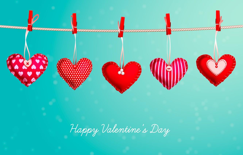 Photo wallpaper background, hearts, Valentine's day