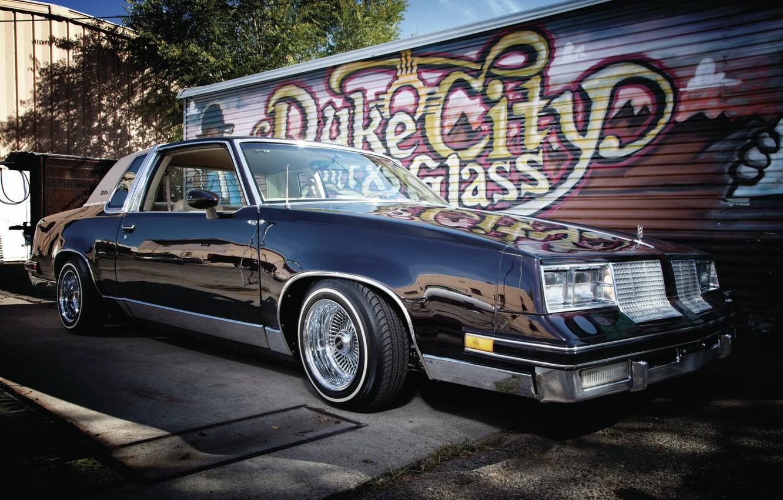 Photo wallpaper Lowrider, Vehicle, Modified, Oldsmobile Cutlass