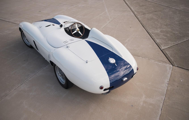 Photo wallpaper Ferrari, Classic, The wheel, Classic car, 1955, Sports car, Ferrari 750 Monza Spyder