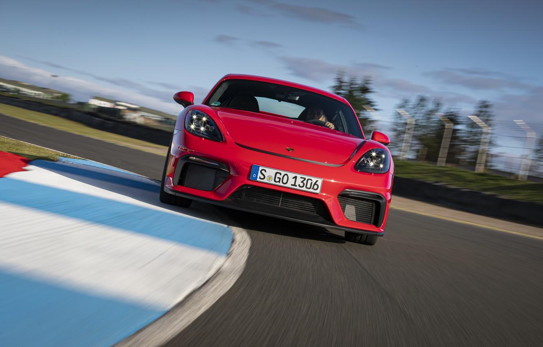 Photo wallpaper Porsche, Speed, Cayman, Track, GT4, 2019, Porsche 718 (982) Cayman GT4