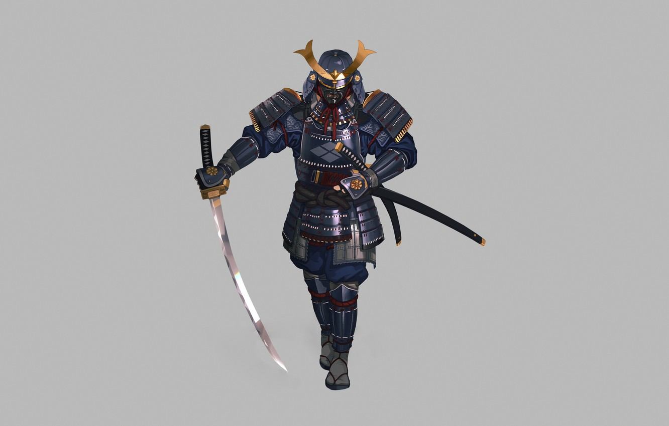 Wallpaper Fantasy Art Style Warrior Samurai