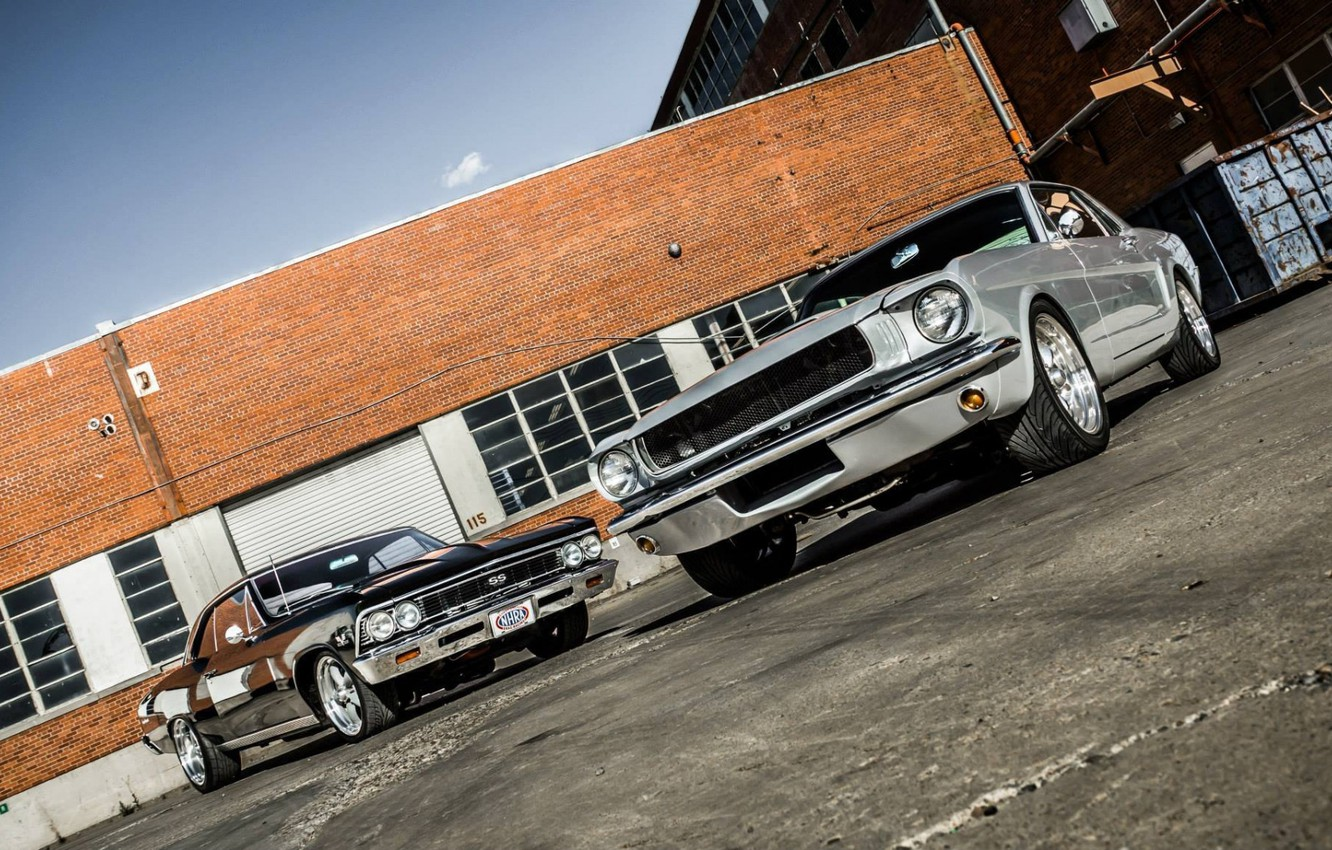 Photo wallpaper Ford Mustang, Cars, Chevy, Chevelle