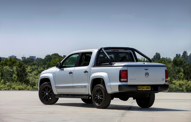 Photo wallpaper Volkswagen, rear view, pickup, Amarok, 2014, UK Version, Dark Label
