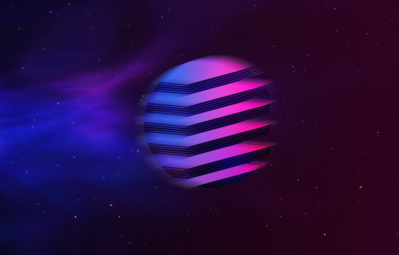 Wallpaper Music, Stars, Space, Background, Neon, Synth