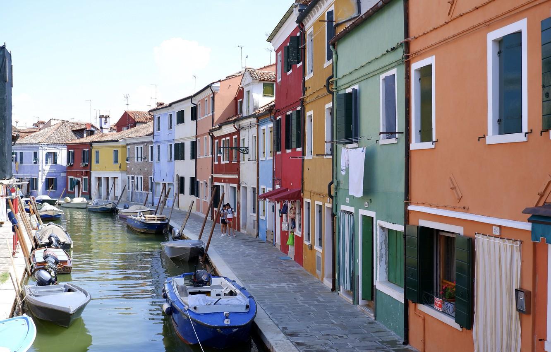 Photo wallpaper home, Italy, Venice, channel, Burano island