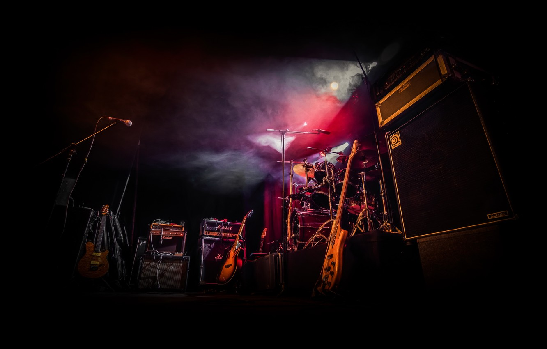 Photo wallpaper guitar, instrumento, shock