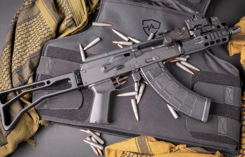 Photo wallpaper weapons, tuning, Machine, Gun, weapon, custom, Kalashnikov, AKM, Assault rifle, Russian, AKM, assault rifle, assault …
