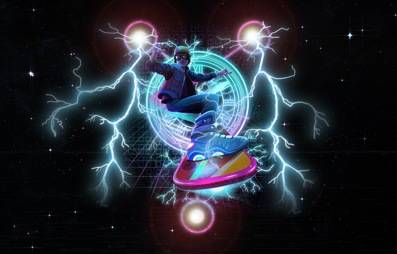 Wallpaper Stars Zipper Art 80s Neon Back To The Future