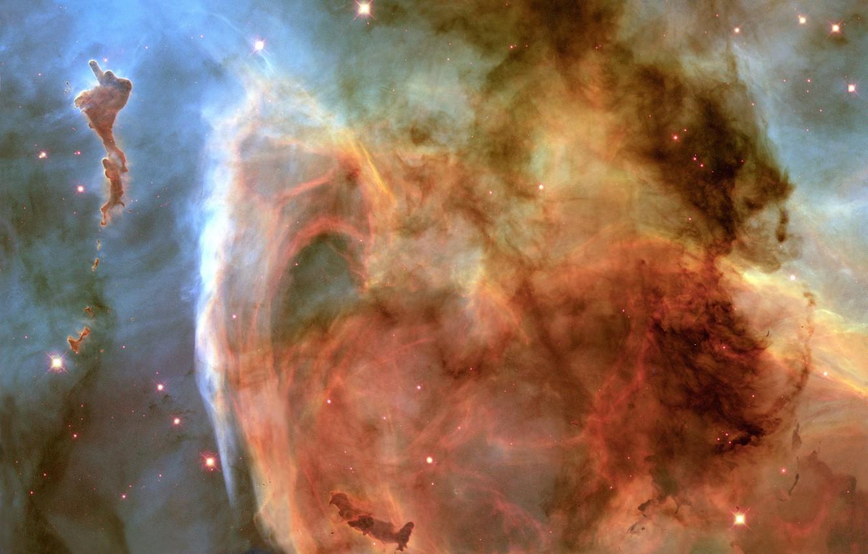 Photo wallpaper Hubble, Nebula, The Milky Way, Carina Nebula, Keyhole Nebula