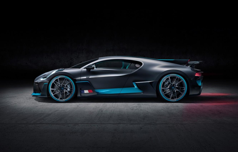 Photo wallpaper background, side view, hypercar, Divo, Bugatti Divo, 2019 Bugatti Divo