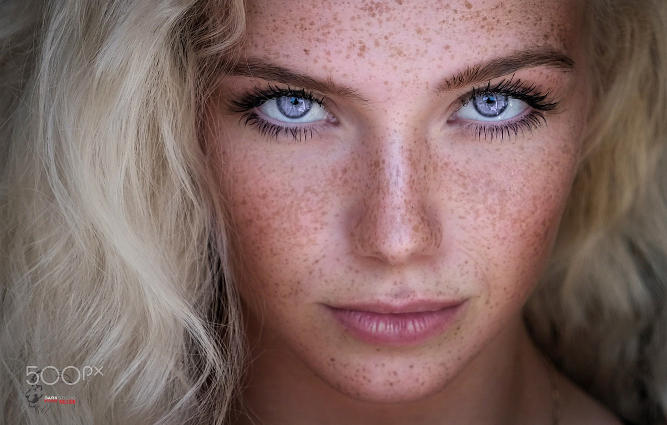 Photography Blonde Model Girl With Freckles Hd Wallpaper