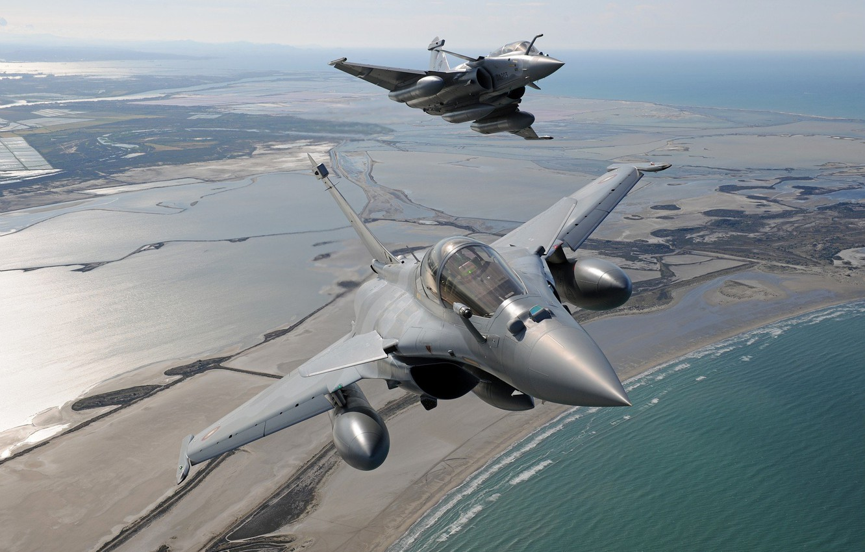 Wallpaper Wave Fighter Shore Dassault Rafale Cockpit