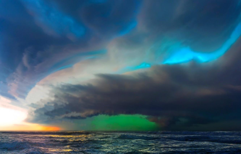 wallpaper sea wave the sky storm element images for desktop