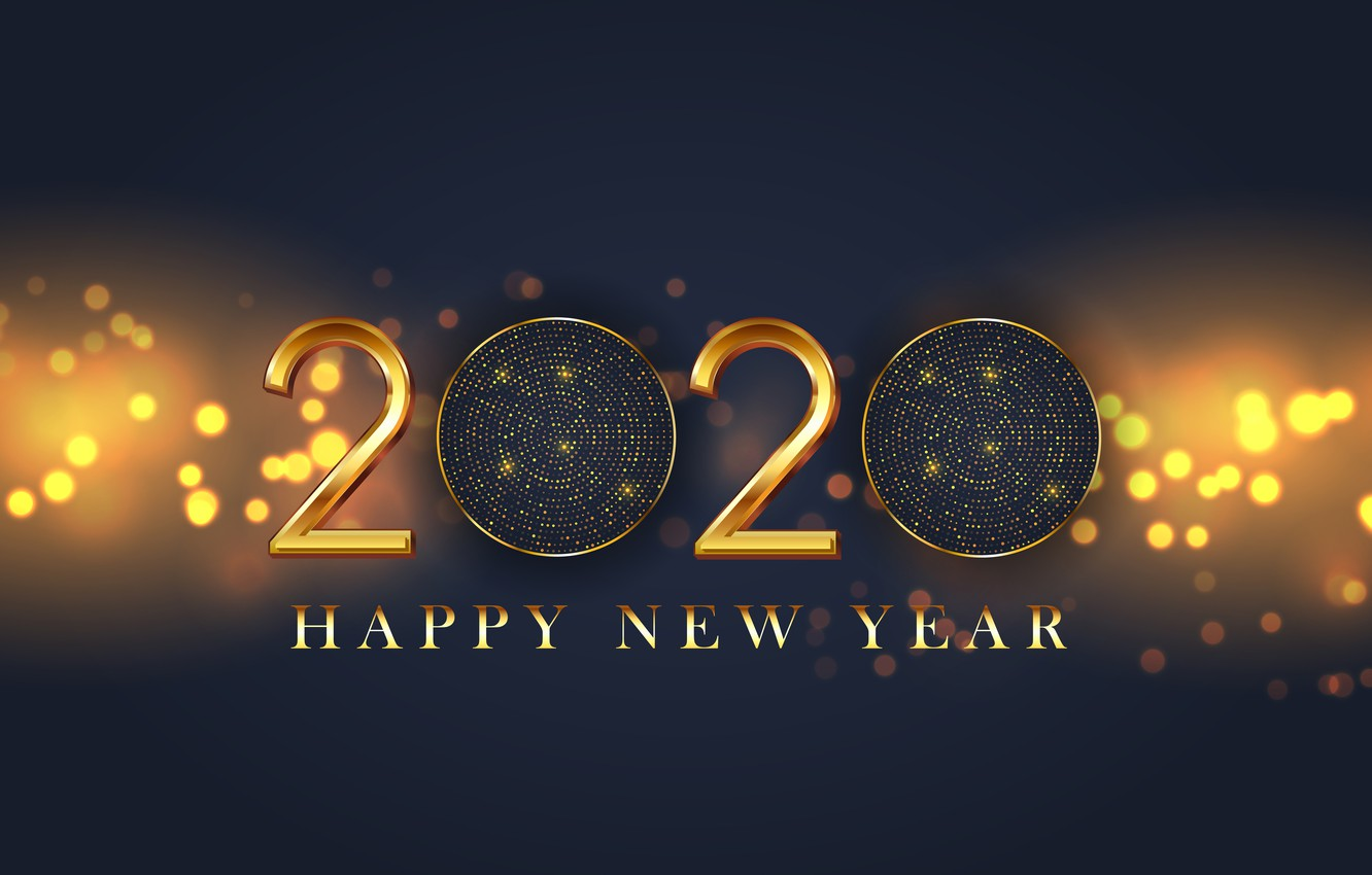Wallpaper Background Gold Figures New Year 2020 Images