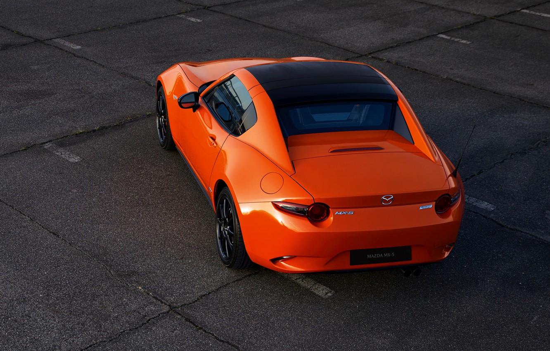 Photo wallpaper orange, Mazda, rear view, Targa, 30th Anniversary Edition, 2019, MX-5 RF