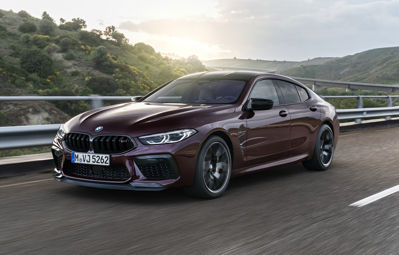 Photo wallpaper movement, coupe, speed, BMW, 2019, M8, the four-door, M8 Gran Coupe, M8 Competition Gran Coupe, …