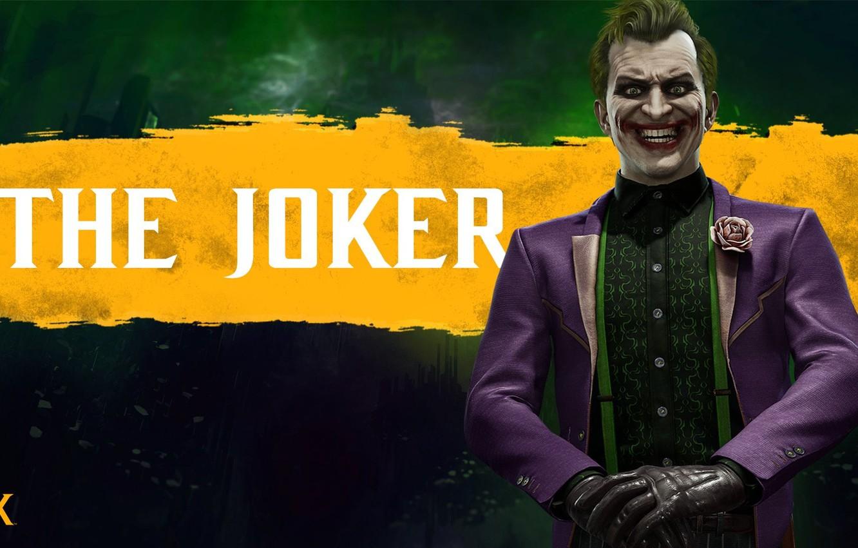 Photo wallpaper Joker, fighter, character, The Joker, Mortal Kombat 11, Mortal Kombat 11