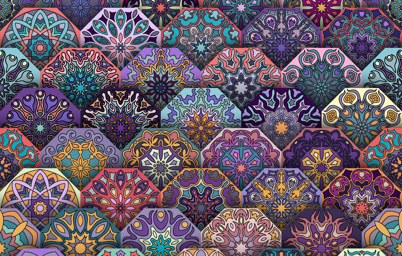 Photo wallpaper abstraction, pattern, geometry, ornament
