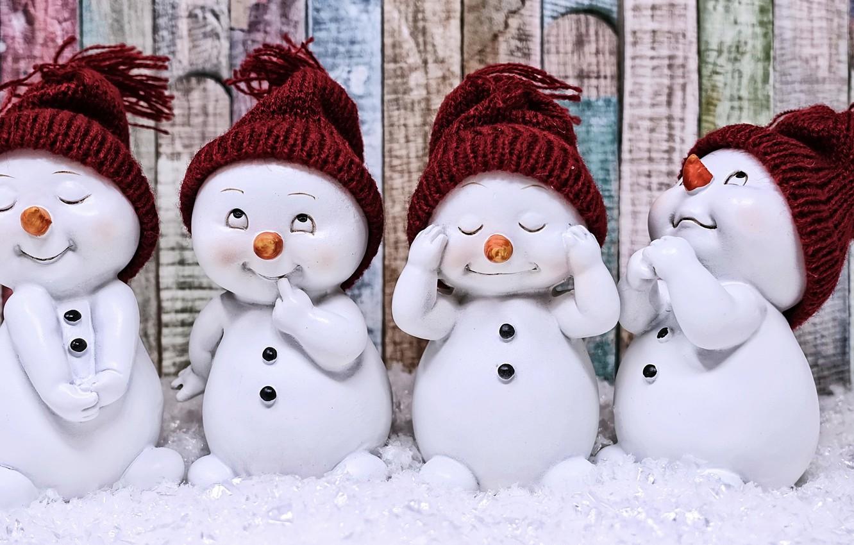 Photo wallpaper figures, beanie, the snowmen, cute