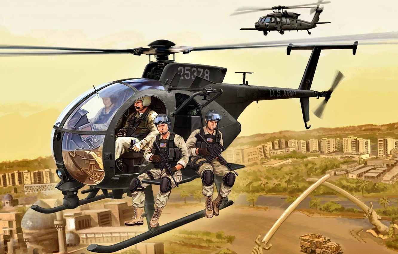 Wallpaper Helicopter Usa Uh 60 Black Hawk Us Army Mh 6m