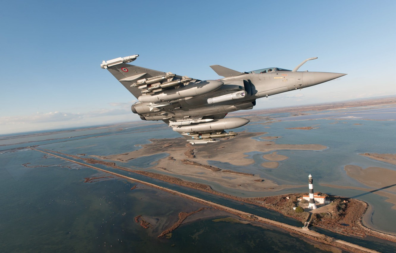 Wallpaper Lighthouse Fighter Dassault Rafale The French