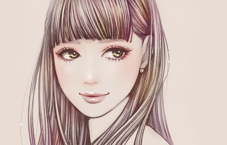 Photo wallpaper girl, portrait, by Naho Sono