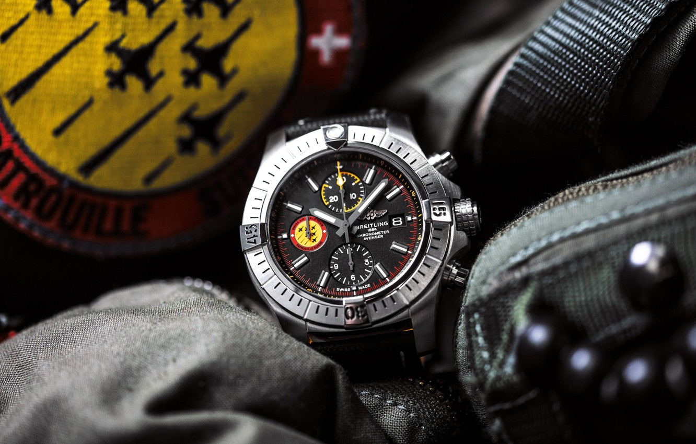 Photo wallpaper Breitling, chronometer, Swiss Luxury Watches, Swiss wrist watches luxury, analog watch, Breitling, Swiss Air Force …