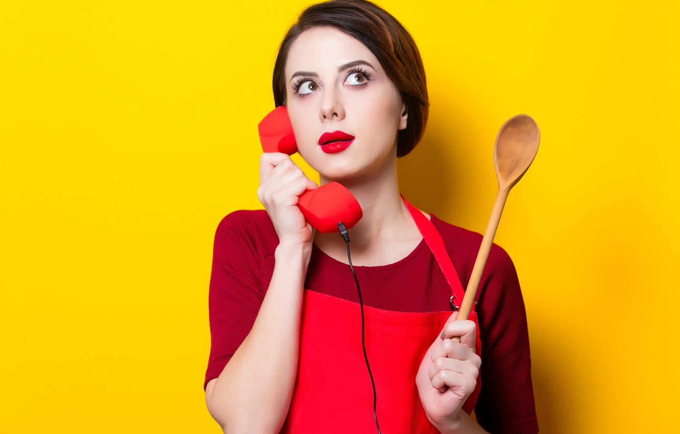A Girl With A Yellow Spoon