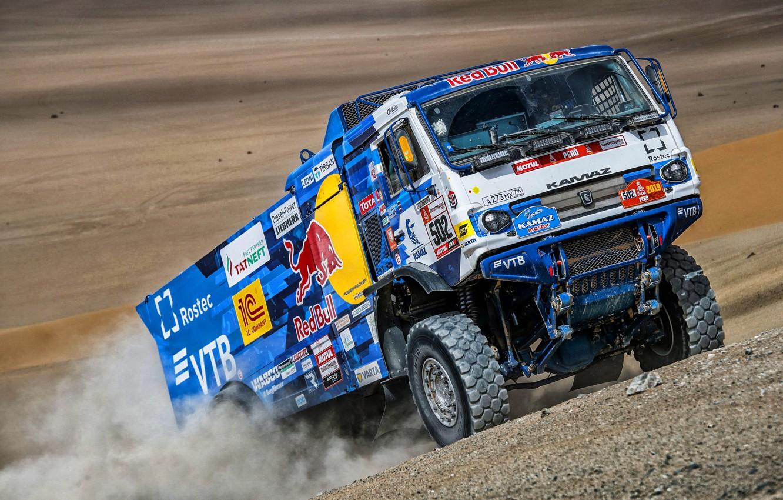 Photo wallpaper Sand, Sport, Machine, Truck, Race, Master, Russia, Kamaz, Rally, Dakar, KAMAZ-master, Dakar, Rally, KAMAZ, The …