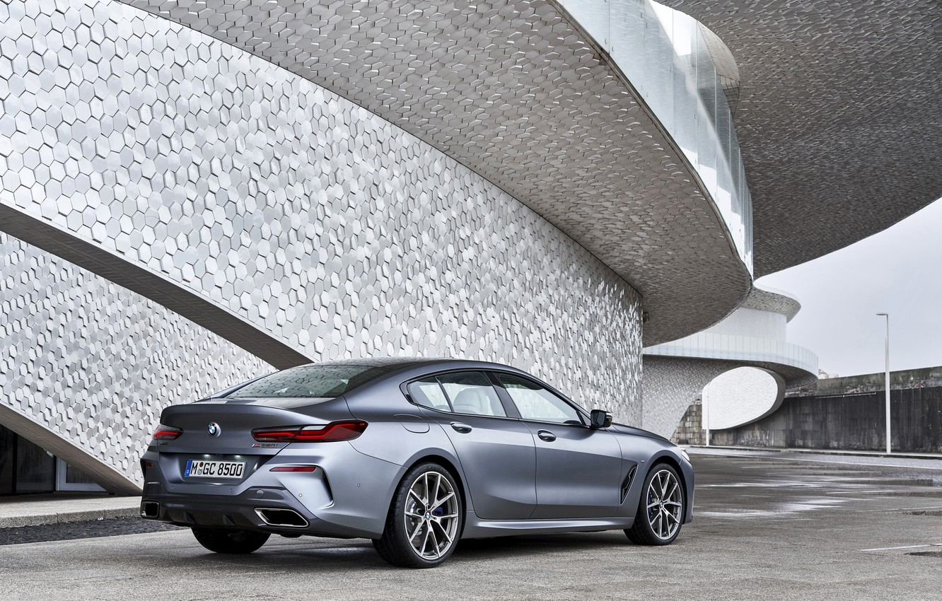 Photo wallpaper coupe, BMW, structure, Gran Coupe, 8-Series, 2019, the four-door coupe, Eight, G16, steel gray