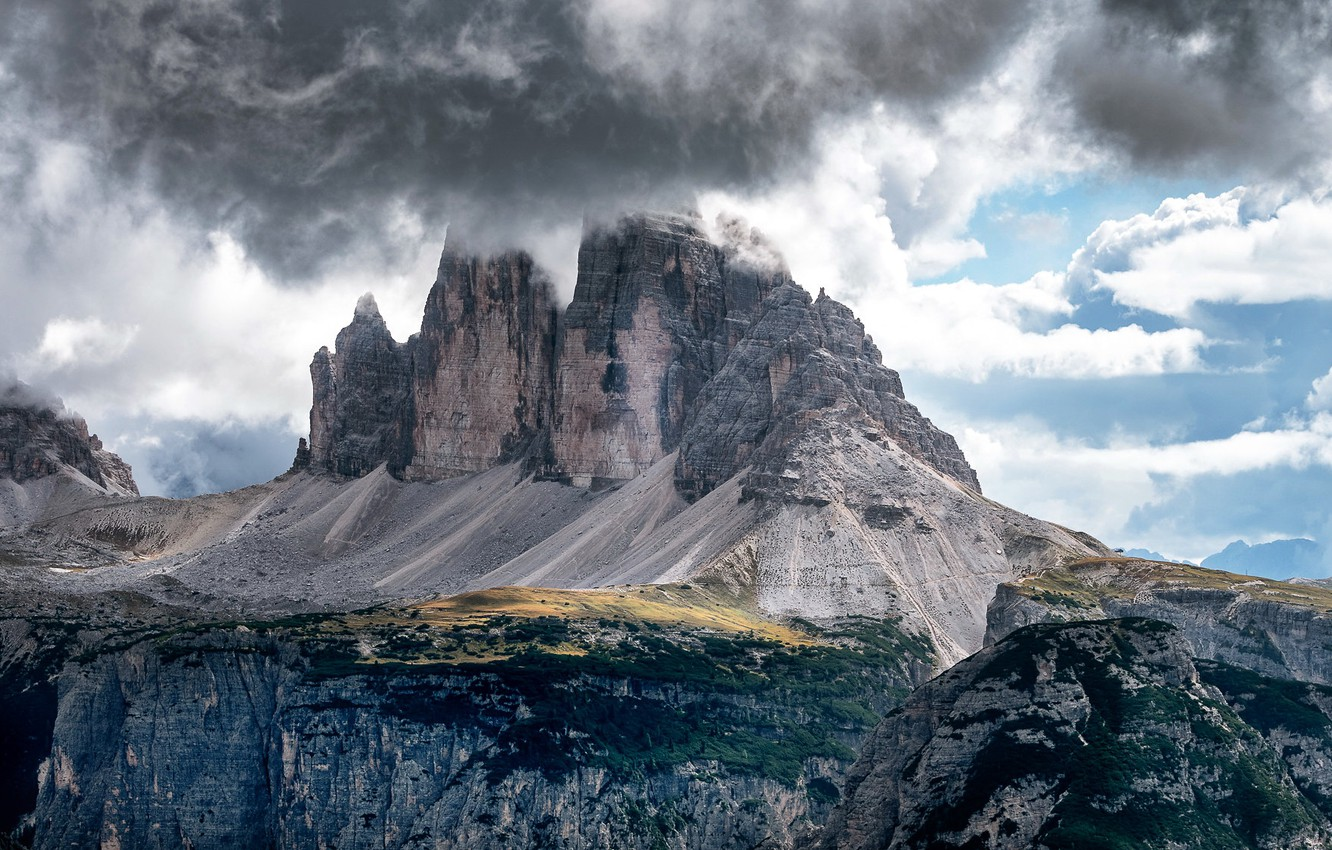 Photo wallpaper the sky, mountains, nature