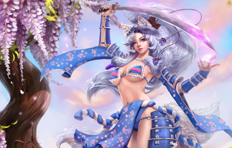Photo wallpaper anime, fantasy, art, fragment, Akiko, Alexandra Cvetkova
