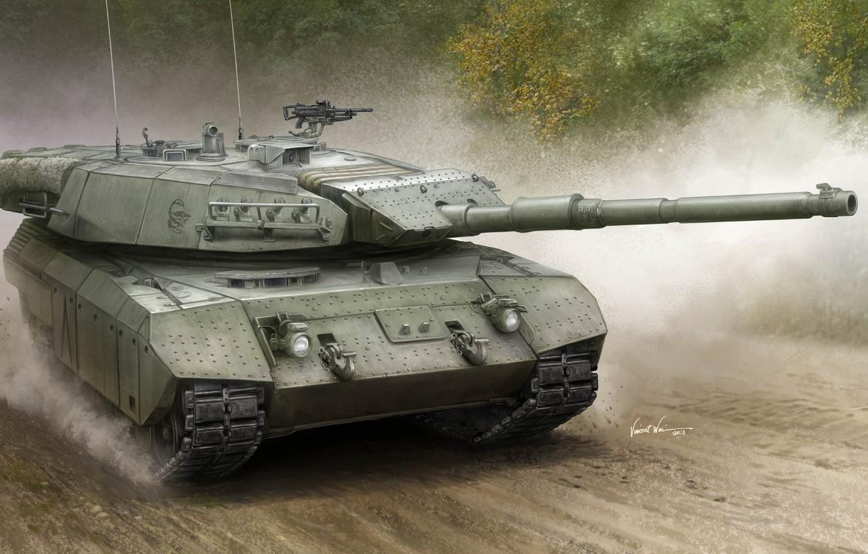 Photo wallpaper art, Canadian tank, MEXAS, Leopard C2