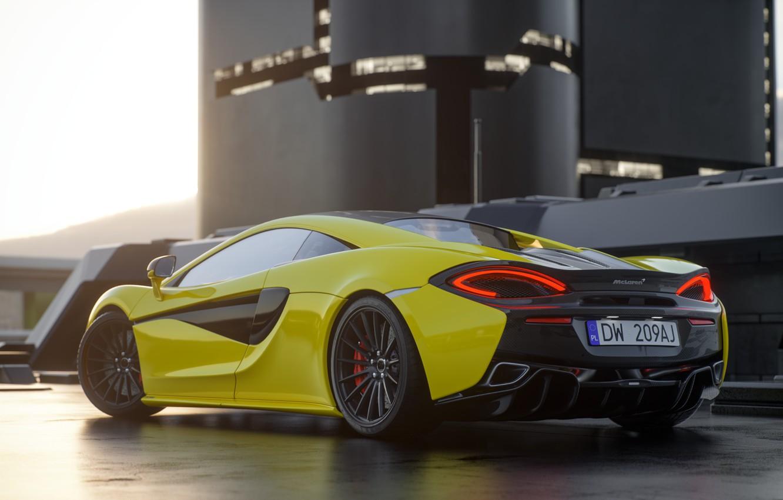 Photo wallpaper McLaren, Auto, Machine, Car, Render, Rendering, 570s, McLaren 570s, Transport & Vehicles, DW-209AJ, by Basil …
