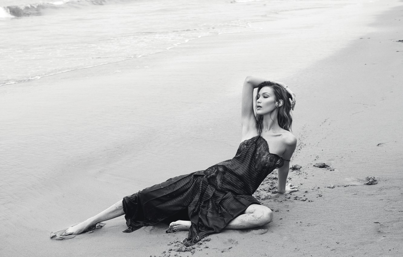 Photo wallpaper beach, model, Bella Hadid