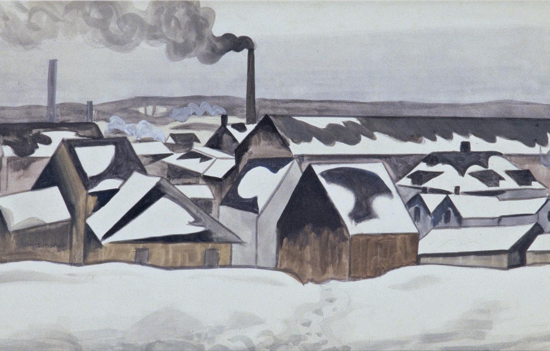 Photo wallpaper 1920, Charles Ephraim Burchfield, Snow Patterns