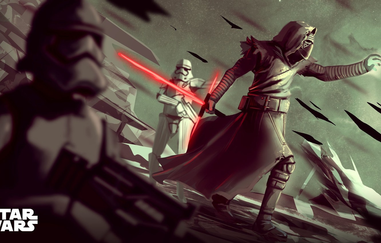 Wallpaper Star Wars Sword Fantasy Art Lightsaber Sith Stormtroopers Characters Stormtroopers Stormtrooper Kylo Ren Imperial Stormtroopers By Lorenzo Berzosa Lorenzo Berzosa Images For Desktop Section Art Download