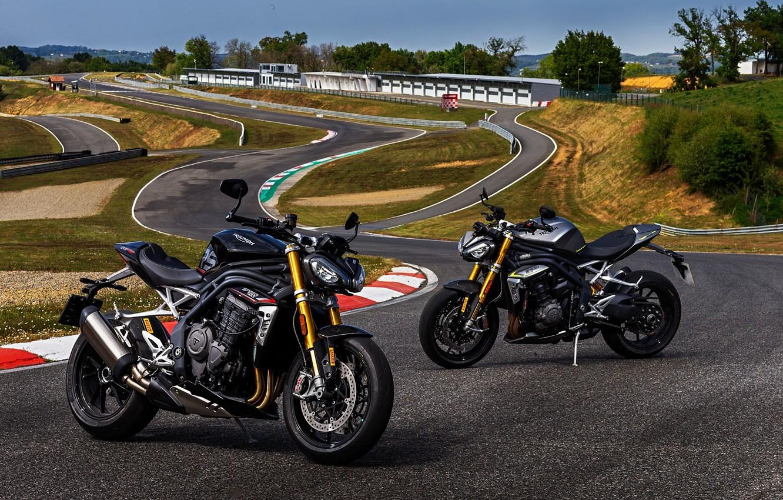 Photo wallpaper motorcycle, motorbike, 1200, 2021, speedtriple, triumph speed tripple