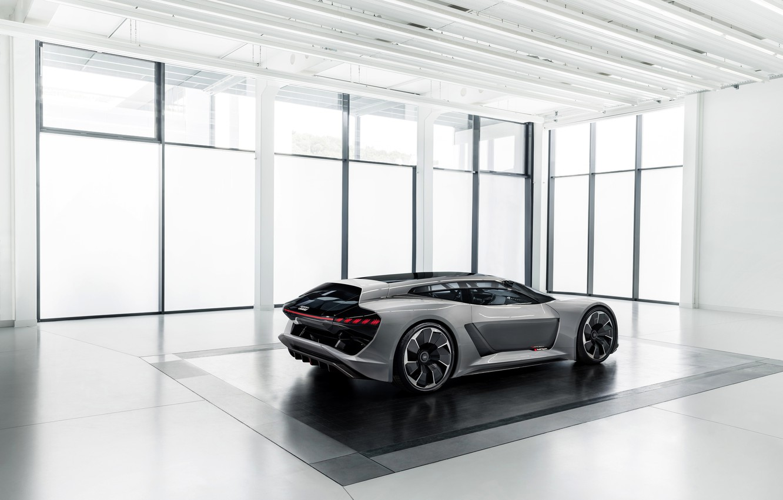 Photo wallpaper grey, Audi, side view, the room, 2018, PB18 e-tron Concept