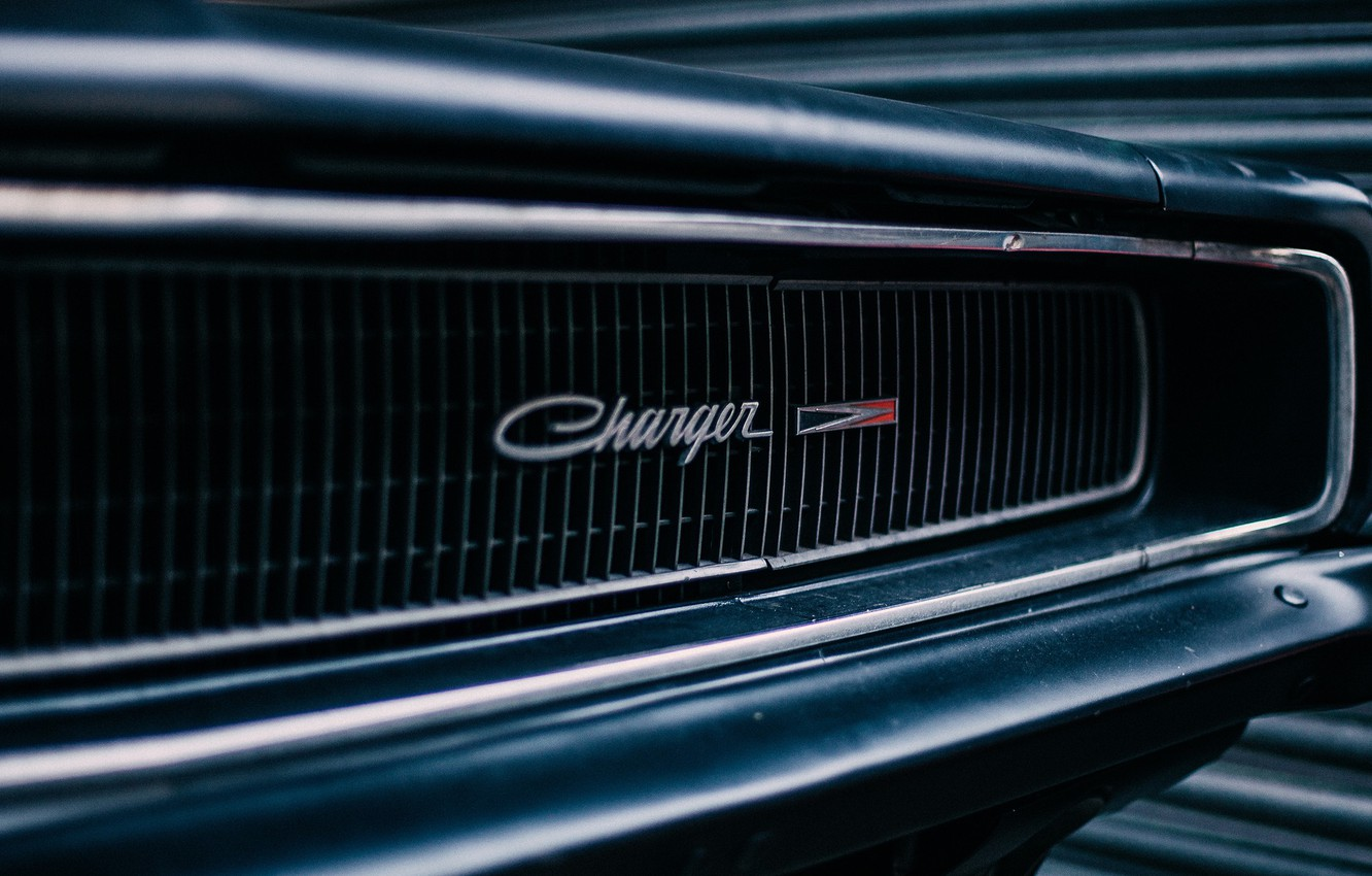 Photo wallpaper Dodge, Logo, muscle car, Dodge Charger