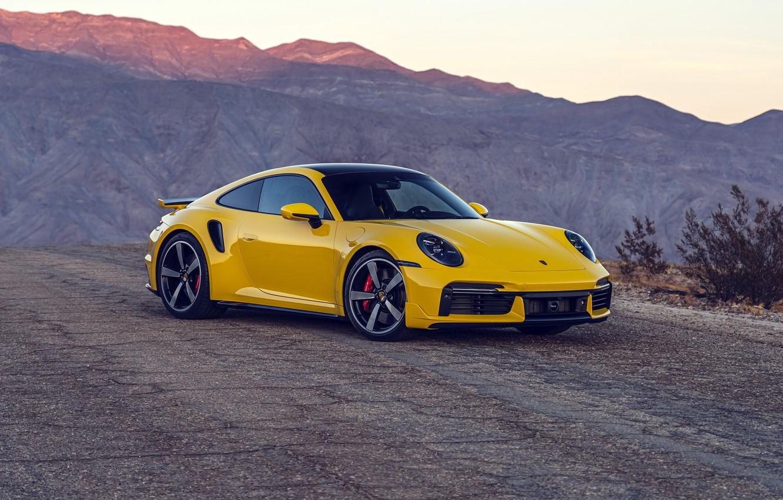 Photo wallpaper mountains, 911, Porsche, Porsche, Turbo, 2021